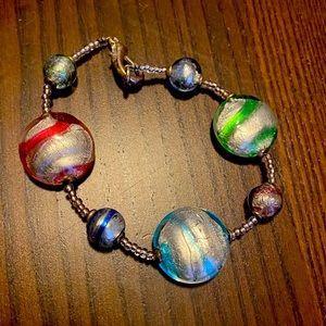 Italian Murano Glass Beaded Bracelet